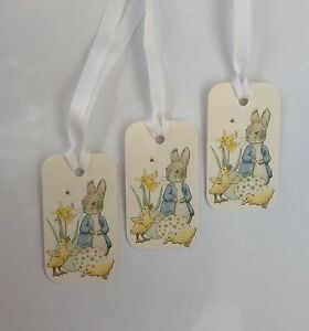 Peter Rabbit Easter tags, Easter gift tags, Peter rabbit tags.