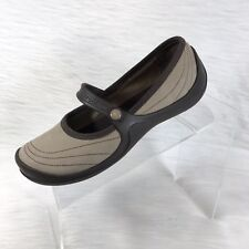 Crocs Women's Mary Jane Shoes Tan Brown Suede Size 7