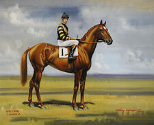 Man O' War photo from oil painting  Horse Racing