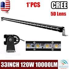 33Inch 120W LED Single Row Slim Led Light Bar Spot Fog Offroad Driving UTE 32/34