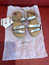 Zara Infant Girls Metallic Shiny Gold Sandals size 27-UK 9 BNWT Cost £17.99