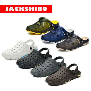Men Slip On Garden Mules Clogs Shoes Sports Sandals Beach Water Slippers Shoes