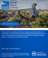 RSPB Pin Badge | Silver Studded Blue Butterfly | Minsmere reserve [01299]