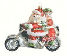 Cobane Studio Motorcycle Santa hand-blown glass hand-painted Ornament COBANEE244