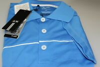 Adidas Climalite Relaxed Fit Golf Polo Shirt Oasis Blue / White Sample L Pocket