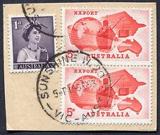 SUNSHINE WEST W.20 VIC 5P10SE63 CDS Australia Stamp Postmark