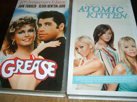 VHS Video Bundle  20th Anniversary Grease & Atomic Kitten   new and sealed