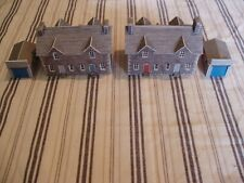 N GAUGE BUILDING - FOUR SEMI DETACHED HOUSES & TWO GARAGES - METCALFE TYPE