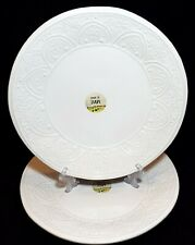 La Ceramica Embossed Dinner Plate Made In Italy NEW! Set of 2 Serving Plates