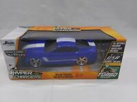 2015 Ford Mustang Radio-Control Car - Blue/Black/White. Jada R/C New