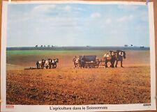 Affiche scolaire: N°6 L'AGRICULTURE DANS LES SOISSONNAIS