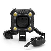 USB wiederaufladbare LED Fahrrad Scheinwerfer Radfahren Strobe Lamp + Horn