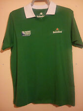 HEINEKEN RUGBY UNION SHIRT WORLD CUP NEW ZEALAND 2011 SIZE L NUMBER 11 GREEN VGC