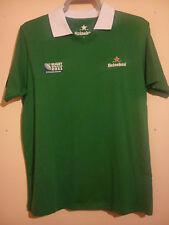 HEINEKEN Rubgy Union SHIRT WORLD CUP NEW ZEALAND 2011 taglia L numero 11 Verde in buonissima condizione