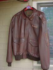 Perrone Fine Aviation Apparel Men's Size 44 Leather Beechcraft Jacket A2 G1 USA