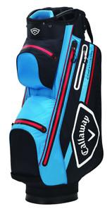 Callaway CHEV 14 DRY Waterproof Golf Cart Bag Black, Cyan, Red - NEW! 2021