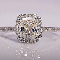 Mode Silber Kristall Legierung Zirkon Kubikringe Charme Hochzeit Frauen SchmuXUI