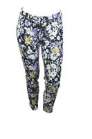 GJ11-129 H&M Damen Hose Slacks Gr. 38 L28 Stretch Blumen-Muster tapered leg