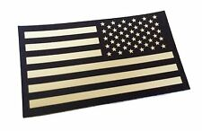Reversed Black and Tan Us Ir Infrared USA Flag Military Morale Reflective Patch