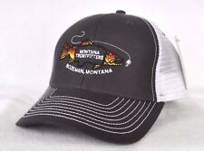 *MONTANA TROUTFITTERS* Fly fishing Trucker mesh Ball cap hat snapback *OURAY*