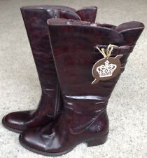 Born Berry Leather Riding Boot - Women's Size 8.5 - Tan Burnished - Clearance!