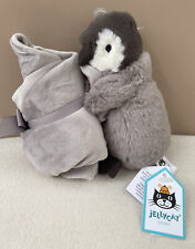 Jellycat Percy Penguin Soother Baby Soft Toy Comforter Blankie Grey