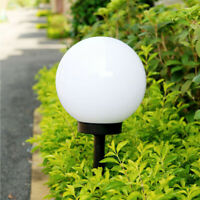 LED Solar Power Outdoor Garden Path Yard Ball Light Lamp Lawn Road Patio