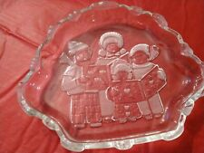 Pre-Owed Lead Crystal Christmas Carolers Candy dish