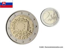 2 Euros Commémorative Slovaquie Drapeau 2015 UNC