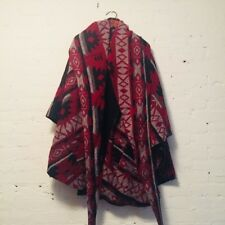 Lindsey Thornburg Wool Coat Jacket Poncho Cloak Women's Navajo Pendleton Aztec