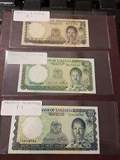 Tanzania 20 10 5 Shillings, ND(1966), P-3 2 Unc P1 VF-Au