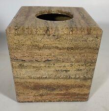 Heavy Dark Travertine Tissue Box Cover Waterstone Inc Mexico