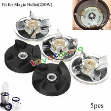 3 Plastic Gear Base & 2 Rubber Replacement For Magic Bullet Spare Parts New