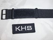 KHS Tactical Natoband XTAC Black Nylon Army Nato Armband Nylonband KHS.EBNXT1.22