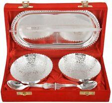 Laddu Gopal Silver Plated Brass Bowl Tray & Spoon Set Birthday Return Gift