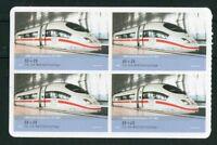 Bund 4 x 2567 postfrisch VB Viererblock Eisenbahn ICE Selbstklebende MNH