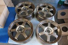"JDM 15"" TE37 Style wheels rims Honda ctr itr ek9 ef8 ef9 sb3 eg6 cb3 MUGEN rays"