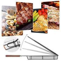 Vaggan Barbeque Kabob Grilling Basket Rack BBQ 2021 SALE