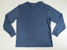 Roundtree & Yorke Mens Blue V-Neck Soft Knit Long Sleeve Original Tee X-Large