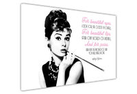 CANVAS WALL ART PRINTS ICONIC AUDREY HEPBURN QUOTE PICTURES PHOTO BLACK & WHITE