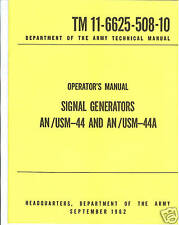 Signal Generators, AN/USM-44, -44A, Operator's Manual