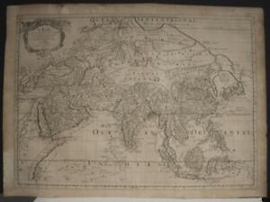 ASIAN CONTINENT 1669 NICOLAS SANSON UNUSUAL ANTIQUE ORIGINAL COPPER ENGRAVED MAP