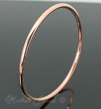 GORGEOUS GIFT ROSE GOLD PLATED 3MM THICK LADIES GIRLS MENS 62MM BANGLE BRACELET