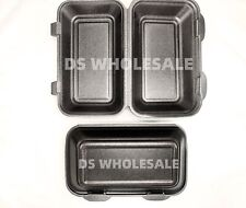 More details for 125 x black polystyrene foam food large containers hb10 takeaway box hot cold