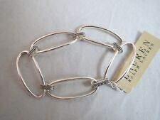 Ralph Lauren silver tone oval linked~oxidized connecters bracelet ,  NWT