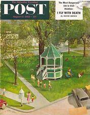 The Saturday Evening Post August 15 1953 John Clymer Vintage Americana