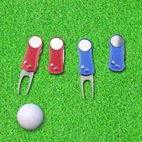 1pc Stainless Steel Golf Ball Marker Pitch Mark Divot Repair Switchblade Tool w/