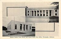 C11/ Wetumka Alabama AL Postcard c1940 Elmore County Court House Post Office