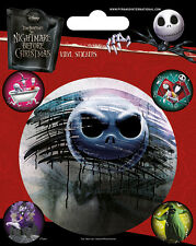 Disney Tim Burton Nightmare Before Christmas Vinyl Sticker - 1 Sheet 5 Stickers