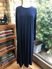 IMAAN JILBAB UK 14 Navy Blue & Black Oversized Straight Long-Sleeve Maxi Dress